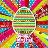 karciany Easter powitania szablon Obrazy Stock