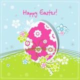 karciany Easter powitania szablon Fotografia Royalty Free