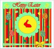 karciany Easter powitania szablonu wektor Fotografia Stock