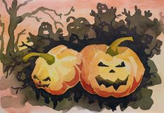 karciany gratulacyjny Halloween Zdjęcie Stock