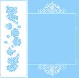 karciany ilustracyjny róż stylu wektoru rocznik Obraz Royalty Free