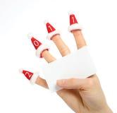 karciany jasny ręki istoty ludzkiej nowy rok Fotografia Royalty Free