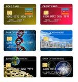 karciany kolekci kredyta set Zdjęcia Royalty Free