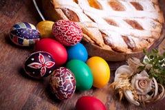 karciany kolorowy Easter jajek pastiera Obrazy Royalty Free