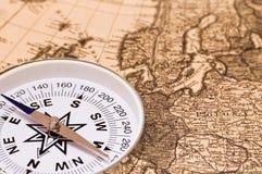 karciany kompas zdjęcie stock