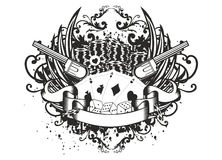 Karciany kontuar i kolty Obrazy Royalty Free
