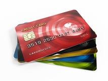 karciany kredyt s Zdjęcia Stock