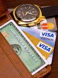 karciany kredyt s Zdjęcie Royalty Free