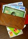 karciany kredyt s Zdjęcia Royalty Free
