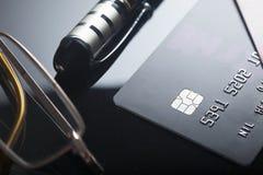 karciany kredyt s Klingeryt karty Zdjęcie Stock