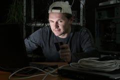 karciany kredytowy hacker Obraz Stock