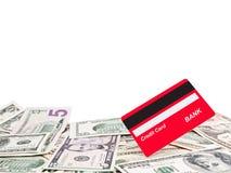 karciany kredytowy pieniądze zdjęcia royalty free