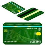 Karciany kredytowy szablon. Obrazy Royalty Free