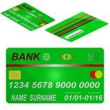 Karciany kredytowy szablon. Obrazy Stock