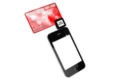 karciany kredytowy telefon komórkowy Obraz Royalty Free