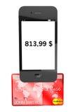 karciany kredytowy telefon komórkowy Zdjęcia Stock