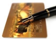 karciany kredytowy złoto obrazy stock