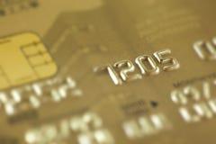 karciany kredytowy złoto Zdjęcie Stock