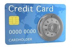 karciany kredytowy zabezpieczać Zdjęcia Royalty Free