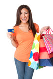 karciany kredytowy zakupy Obrazy Stock