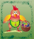 karciany kurczaka Easter powitanie Fotografia Stock