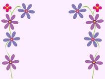 karciany kwiaciasty powitania ilustraci wektor Obraz Stock