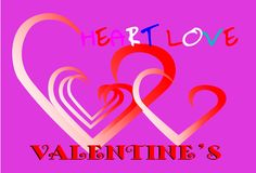 Karciany miłość projekt Fotografia Stock