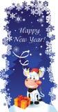 karciany nowy wektorowy rok Obraz Royalty Free