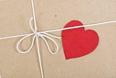 karciany pakunku papieru valentine Fotografia Stock