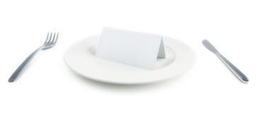 karciany papierowy talerz Fotografia Stock