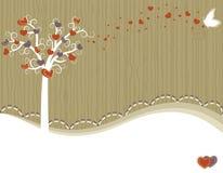 karciany powitania miłości drzewo Fotografia Royalty Free