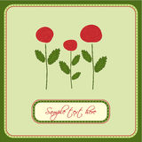 karciany powitania róż wektor Zdjęcia Royalty Free