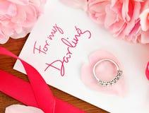 karciany prezent partnera mój pierścionek obrazy royalty free