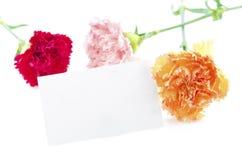 karciany prezent przygotowywający tekst Zdjęcia Royalty Free