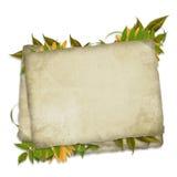 karciany skład dekorujący liść Fotografia Royalty Free