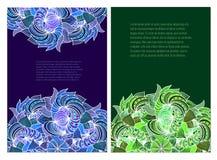 Karciany szablon dla projekta Zdjęcie Royalty Free