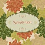 Karciany szablon z chamomile Obraz Royalty Free