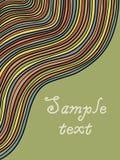 Karciany szablon z kolorowymi liniami Zdjęcia Stock