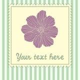 Karciany szablon z kwiatem Obrazy Royalty Free