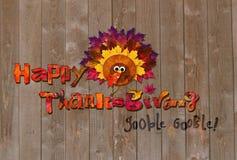 karciany szczęśliwy dziękczynienie Obraz Royalty Free