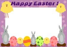 karciany szczęśliwy Easter ramowy obraz royalty free
