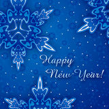 karciany szczęśliwy nowy rok Zdjęcie Stock