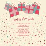 karciany szczęśliwy nowy rok Obraz Stock