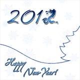 karciany szczęśliwy nowy rok Obraz Royalty Free
