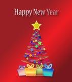 karciany szczęśliwy nowy rok Obrazy Stock