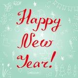 karciany szczęśliwy nowy wektorowy rok Ilustracji