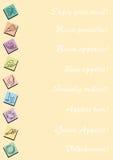 karciany tło menu Obraz Royalty Free