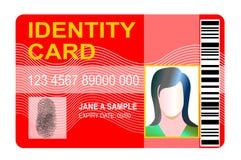 karciany tożsamościowy standard Zdjęcia Royalty Free