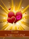 karciany valentine Zdjęcie Stock