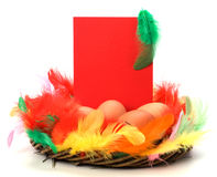 karciany wystrój Easter Zdjęcia Royalty Free